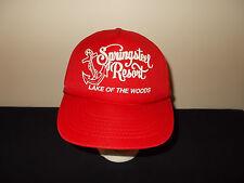 VTG-1980s Springstell Resort Lake of The Woods Walleye Fishing Anchor hat sku31