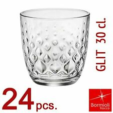 Rocco Bormioli 24 Bicchieri Bicchiere per Acqua Glit CL 30 in Vetro Bar Casa