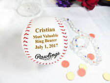 Personalized Engraved Rawlings Baseball Most Valuable Ring Bearer Wedding Gift