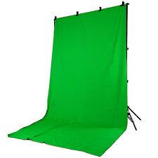 Hintergrundsystem Fotostudio DynaSun FS901 + Stoff Hintergrund W004 2,8x4 Grün