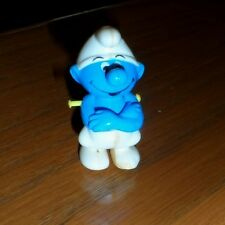 Super RARE hard seamed plastic SMURF folded arms move up and down