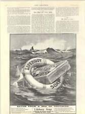 1899 Lifebuoy Soap Saves Lives Harlene Hair Products