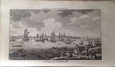 Portsmouth, 1773 Antique Print, Hampshire, England, Original Lady's Magazine