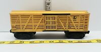 LIONEL 6656 Lionel Lines Stock Car Cattle freight cart Train Yellow Vintage