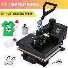 5 in 1 T Shirt Heat Press Machine w 12x10in Heat Pad for Shirts Mugs Plates More