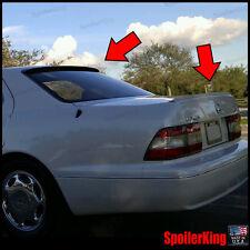 Rear Roof Spoiler & Trunk Wing Combo Fits: Lexus LS400 1989-94 XF10 284R/244L