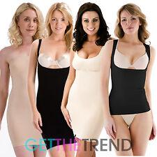 Womens Bodyfit Full Length Underdress Control Slip Shapewear Underwear Vest Top