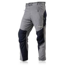 Montane terra мужские активности серый черный регулярные ноги ветрозащитная низ брюки