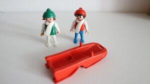 playmobil 3327 setnr. children with sled / sleigh winter snow vintage