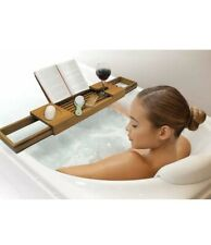 Wooden Expandable Arms Ginsey Blissful Bath Teak Tub Caddy
