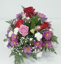 FRESH FUNERAL FLOWER Delivered RedRose Posy Spray FREE Next Day Delivery UK Wide