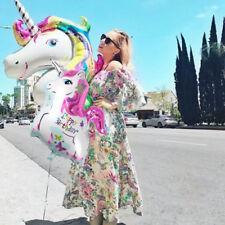 Unicorn Large Rainbow Foil Helium Balloon Children's Birthday Party Decoration