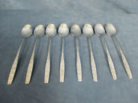 International Silver Stainless Ice Tea Spoons Rogers Spring Garden Set of 8