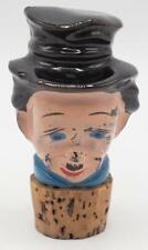 Vintage Novelty Ceramic Figurine Cork Bottle Stopper