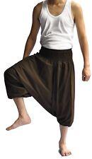 Thai Fisherman Pants Mens Yoga Boho Aladdin Alibaba Harem Pants Brown shorts