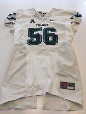 Game Worn Used Nike Tulane Green Wave Football Jersey Size Large #56