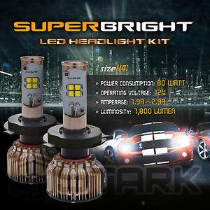LED 80W 7800LM LED Kit CREE XT-E 6000K Headlight Dual Hi Lo - H4 HB2 9003