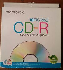 Memorex CD-R Discs 52x 10 pk