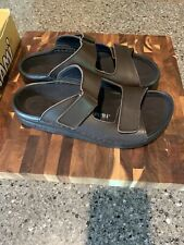 Birkenstock sandals Mens size 10 / EU 43 Brown Leather New in Box -Connecticut-