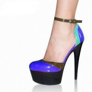 Women Ankle Strap Sandals High Heels Platform Buckle Party Shoes Pumps Nightclub