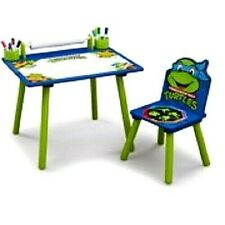 Childrens Nickelodeon Ninja Turtles Art Desk w/ dry-erase surface coloring desk