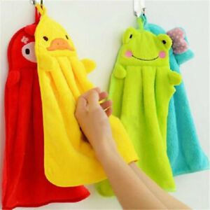 1Pcs Soft Absorbent Towels Kitchen Bathroom Hanging Wipe Hand Towels Baby