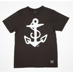 Sailor Jerry Anchor Logo Nautical Navy Tattoo Punk Rock Biker T Tee Shirt S-2XL