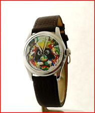 Unique Doxa Anti-Magnetic Cal.14 32mm Ceramic Hand Painting Panda Dial SS Watch