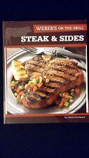 New Weber's On The Grill Steak & Sides Paperback Color Grilling Recipes Cookbook