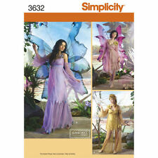 SIMPLICITY Sewing Pattern 3632 Beautiful Ethereal Fairy Costumes Misses 6-12 NEW