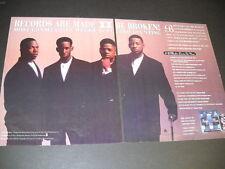 Boyz Ii Men Records Are Made To Be Broken 1994 Rare Two Piece Promo Poster Ad