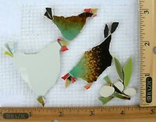 Hens & Eggs Mosaic Tile, Broken Cut China Plate Mosaic Chicken Tiles