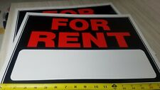 """Qty of 2 Signs For Rent and fill in 15"""" x 19"""" Plastic Sign"""