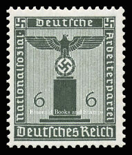 EBS Germany 1938 6 Pfennig Nazi Party Official Dienstmarke Michel 148 MNH**