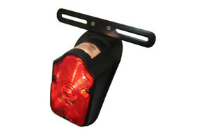 Harley,FL,47-52,flat black tomb stone tail light assembly,light weight casting