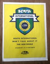 BEATS INTERNATIONAL Won't Talk About magazine ADVERT/Poster/clipping 11x8 inches