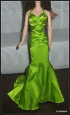 DRESS  BARBIE DOLL LONE STAR GREEN CHARMEUSE GOWN DRESS SILKSTONE CLOTHING