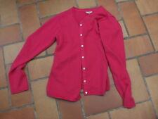 gilet cardigan DPAM 14A coton & modal rose tyrien