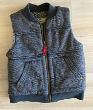 Genuine Kids OshKosh Gray Thick Sherpa Faux Fur Lined Baby Boy Vest Sz 18 Months