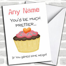 Offensive Valentines Gain Some Weight Valentines Customised Card