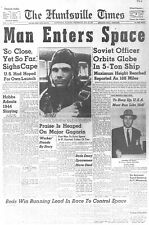 Released to Public Yuri Gagarin Headline, 1961 GLOSSY PHOTO PRINT 3619