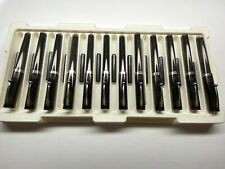 12 sheaffer fountain pens & cartridges made in great usa medium nib chrome trim
