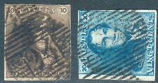 Belgien Lot mit 2 Werten Mi.-Nr.1,2 o (MICHEL € 155,00) pracht