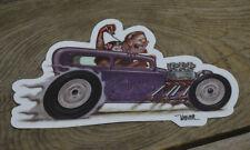 1932 FORD SEDAN STICKER HOT ROD KEITH WEESNER ART DECAL RAT CUSTOM FINK GASSER