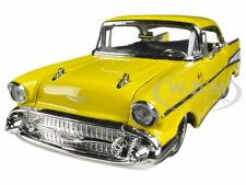 1957 CHEVROLET BEL AIR YELLOW 1/24 DIECAST MODEL CAR BY JADA 90434