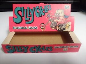 1972 Donruss Silly Cycles Original Box Nice Condition !