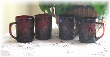 4 Luminarc Antique Ruby Cristal D'Arques Durand Mug Cups New Tags