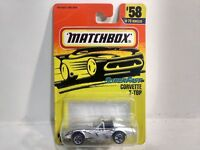 Matchbox Super Fast Corvette T-Top Silver Mattel 1:64 Scale Diecast mb846