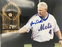 Lenny Dykstra Signed 8x10 Photo Autographed New York Mets Auto NAILS