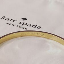 "Kate Spade New York ""Heart of Gold"" yellow gold bangle BNWT - Aussie Boutique"